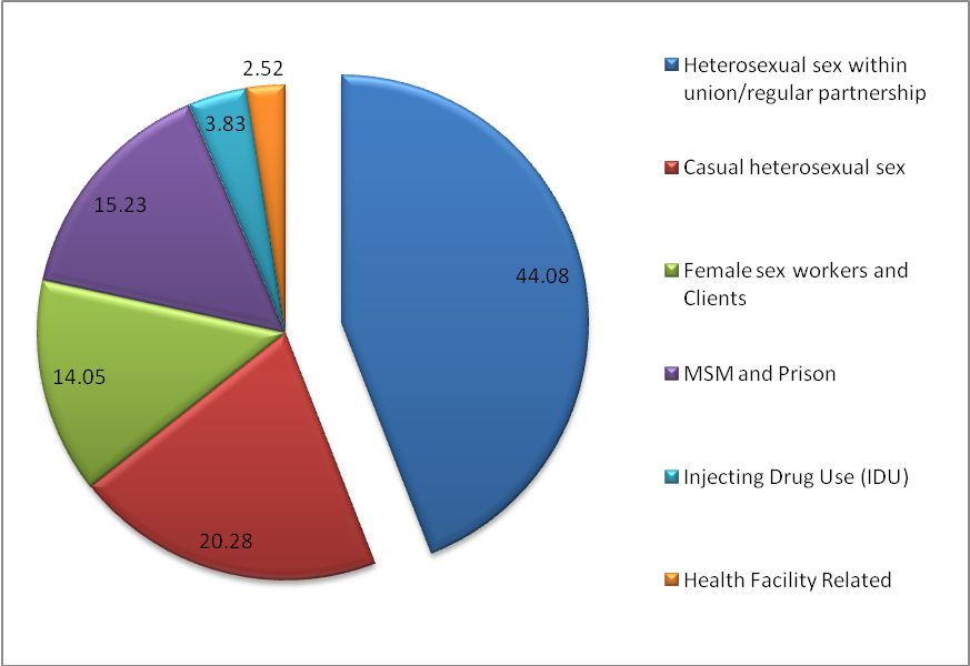 Figure 10: Where and how did HIV new infections occur in Kenya? (source: EAC, 2009d).