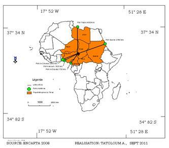 Figure 3: Le Tchad et les ports.
