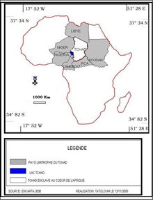 Figure 5: Un aperçu de l'enclavement du territoire tchadien.