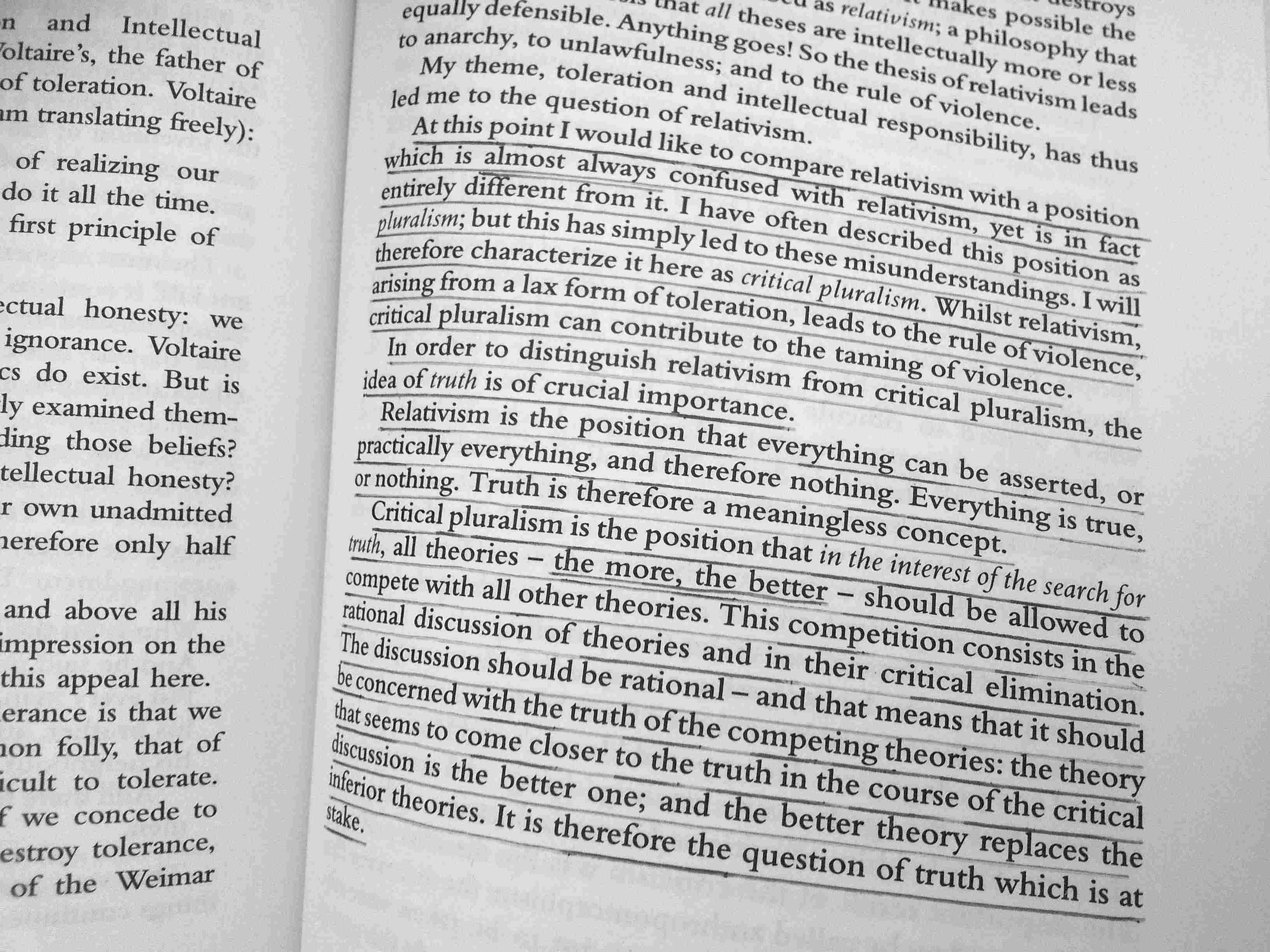 Karl Popper, In Search of a Better World